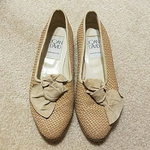 Joan and David Woven loafers with bow